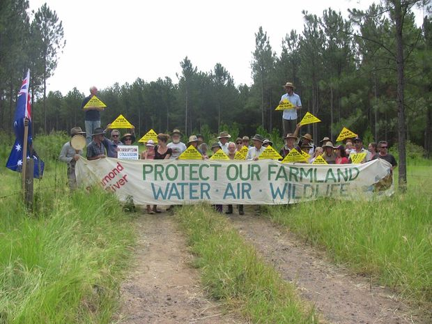 NO DOUBT: Locals gather in force at Doubtful Creek to contest a new Metgasco drilling operation.
