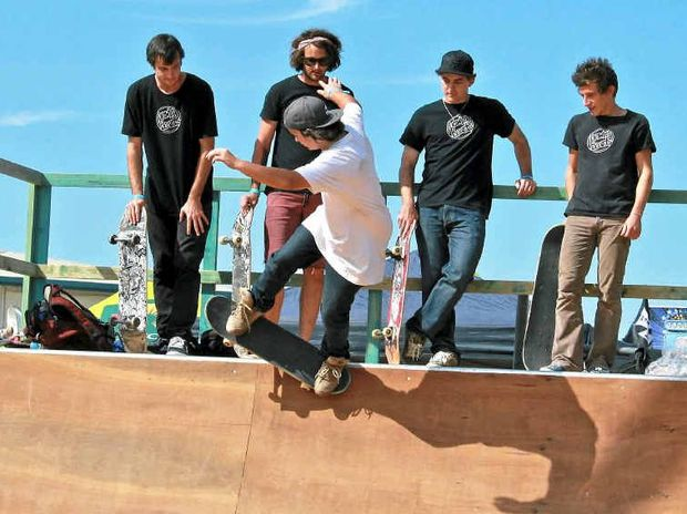 Drawing Board Skaters will be showing off some cool tricks this weekend at the skate bowl.