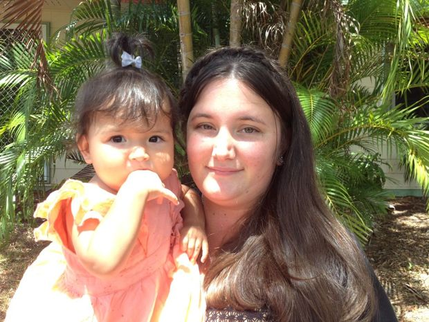 Liana Webster with her daughter.