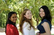 Former Centenary Heights High School students who gained OP1's from left; Maisha Rahman, Laura McDonnel and Marissa Andersen hae gained their first choice in University placements. Photo: Bev Lacey / The Chronicle