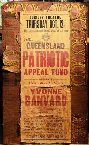 WHAT'S ON: An old poster from Lowood's Jubilee Theatre.