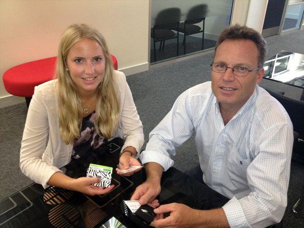 Swedish entrepreneur and University of the Sunshine Coast (USC) student Josefine Runius with Innovation Centre CEO Mark Paddenburg.