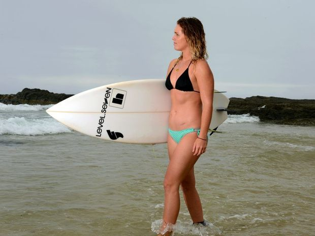 Brittani Nicholl has her sights set being a world surfing champion.