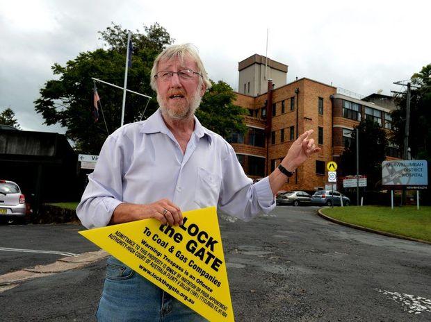 Michael McNamara out front of the Murwillumbah hospital.