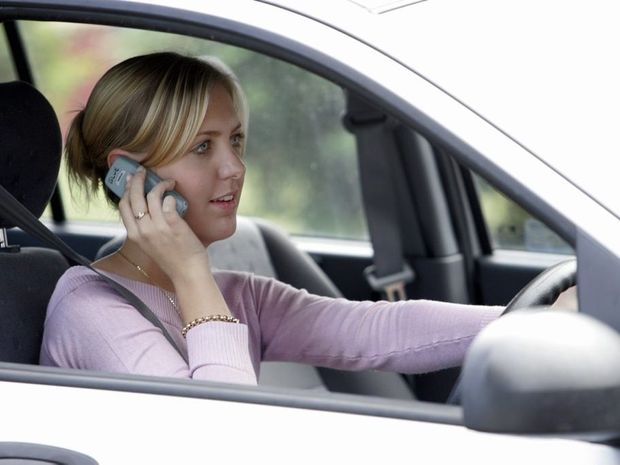 The best advice is, don't use a mobile phone while you're driving. In fact if your engine is on, turn your mobile off.