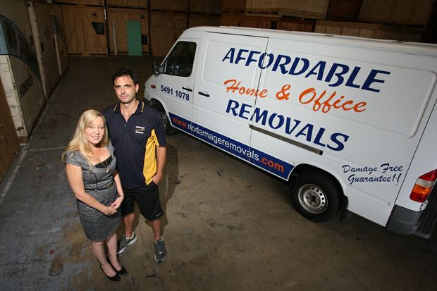Stacey and Andrew Grima of Affordable Home & Office Removals.