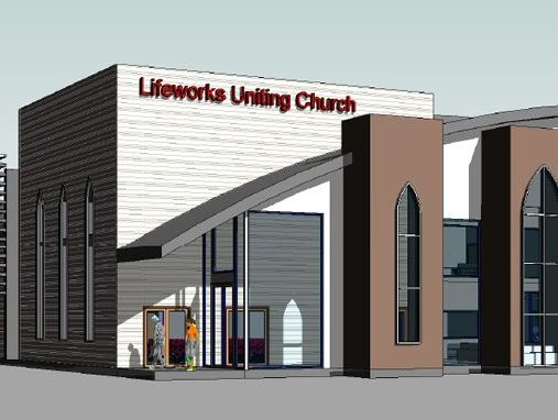 An artist's impression of the $1.7 million first stage of the new Lifeworks Uniting Church in Glenvale.