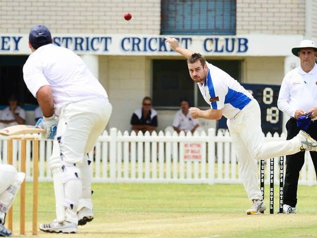 SPIN VETERAN: Brothers bowler David Richardson in action against Laidley.