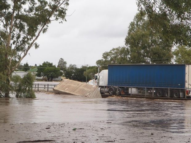 A wayward shipping container causes the indefinite closure of McCahon Bridge in Warwick.