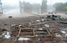 The aftermath of flooding in Gympie.