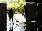 Laidley residents clean up after flood - the owner of the Laidley Hotel Greg Walker said this is the sixth flood he has experienced in the past 25 years, but way by far the worst. Photo: Bev Lacey / The Chronicle
