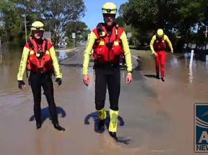 Scenes of the flood in Oakwood