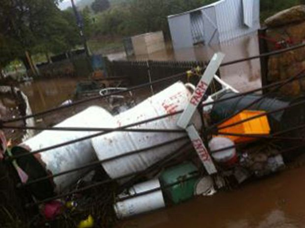 The Serendipity Farm Animal Centre was destroyed by the flood.