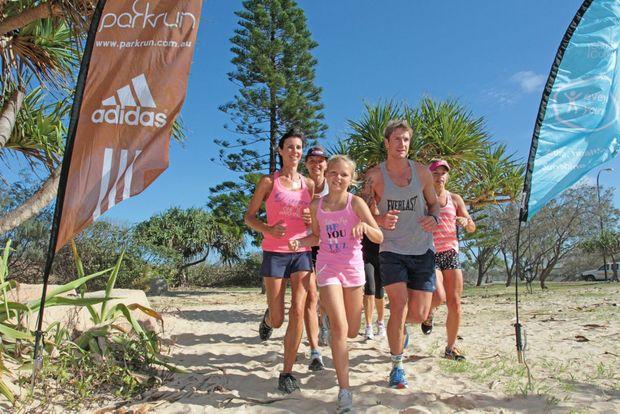 The Kawana park run group meets every Saturday at 7am in front of the Kawana SLSC. Photo: Darryn Smith