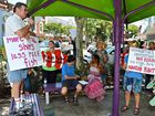 Protesters raise the alarm about effects of Dudgeon Pt