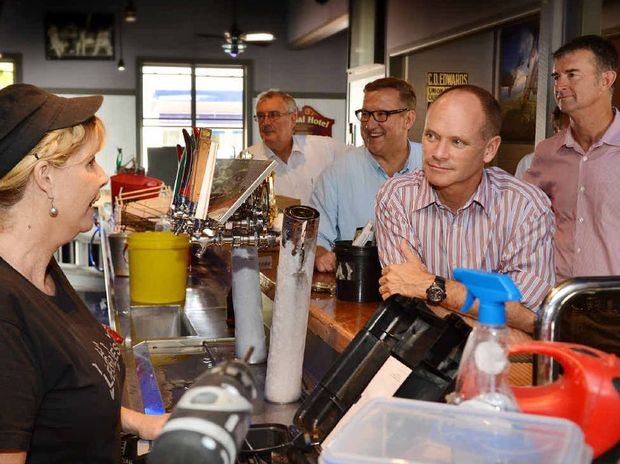 Campbell Newman visits Gympie after the flood.