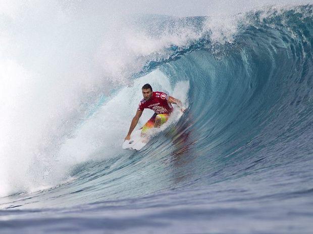 Joel Parkinson on a nice wave in Fiji.