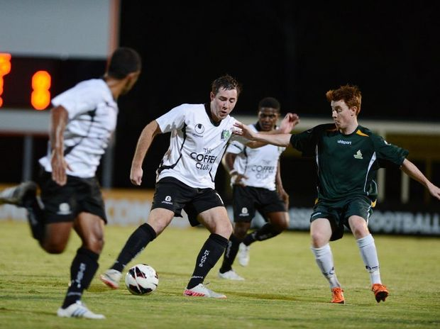 Ipswich Knights v Western Pride competing in the Silver Boot competition soccer match on Friday night at Lions Stadium, Richlands. Photo: Sarah Harvey / The Queensland Times