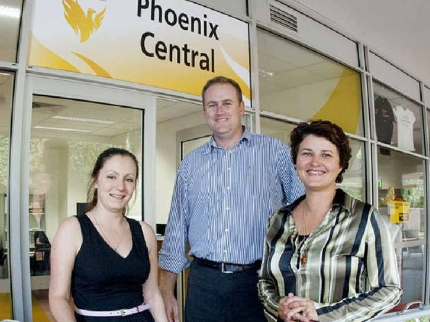 STUDENT SUPPORT: Phoenix Central staff (from left) Cass Edney, Christopher Watson and Wanita Lawson are ready to help at the new University of Southern Queensland's Toowoomba campus shopfront.