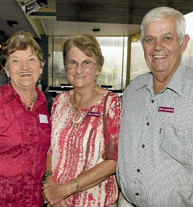 CATCHING UP: Having a great time are (from left) Lyn Osborne, Val Kennedy and Trev Kennedy.