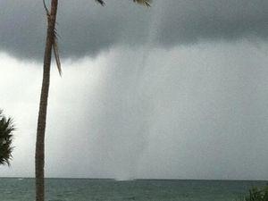 Water spouts off Bundaberg