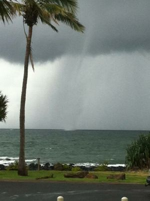 Veronica Pringle shared this picture of a waterspout at Bargara