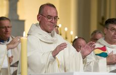 Newly ordained priest Fr Darrell Irvine at his ordination ceremony in Toowoomba&squot;s St Patrick&squot;s Cathedral.