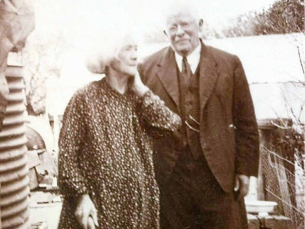 BACK IN TIME: Ned Kelly's younger sister Grace with her husband, Ned Griffiths. The Griffiths' daughter, Sarah Ann Ellen, married John Dalbin Westman and moved from Victoria to Queensland.