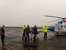 Chopper airlifts man after crash
