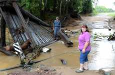 Rod and Ruve Thefs have lost the bridge to their Cedar Pocket home.