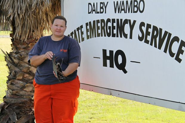 BE PREPARED: Dalby SES controller Angie Smith said cleaning out your gutters will help prevent water seepage.
