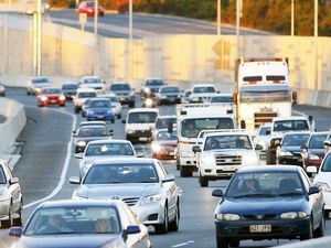 Ipswich Motorway traffic at Goodna. Photo: David Nielsen / The Queensland Times
