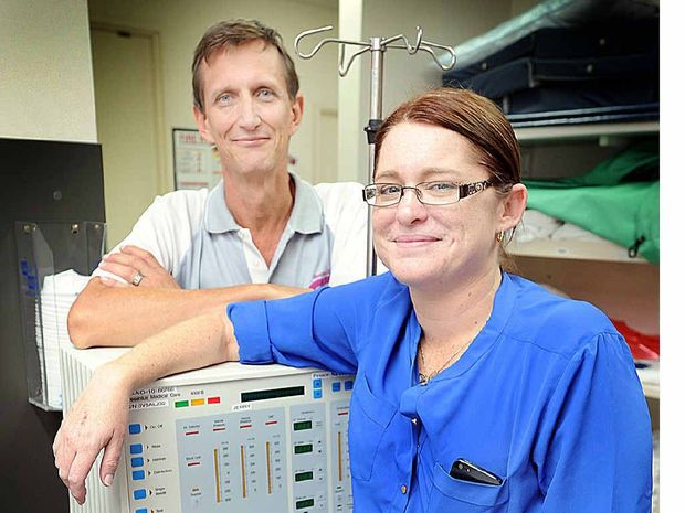 NEW LIFE: Kidney and pancreas transplant patient Megan Jonas with nurse consultant Ian Rogers.