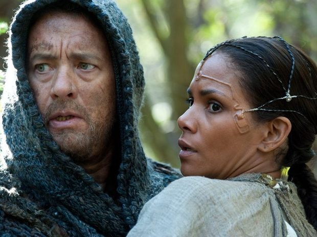 Tom Hanks and Halle Berry in a scene from the movie Cloud Atlas.