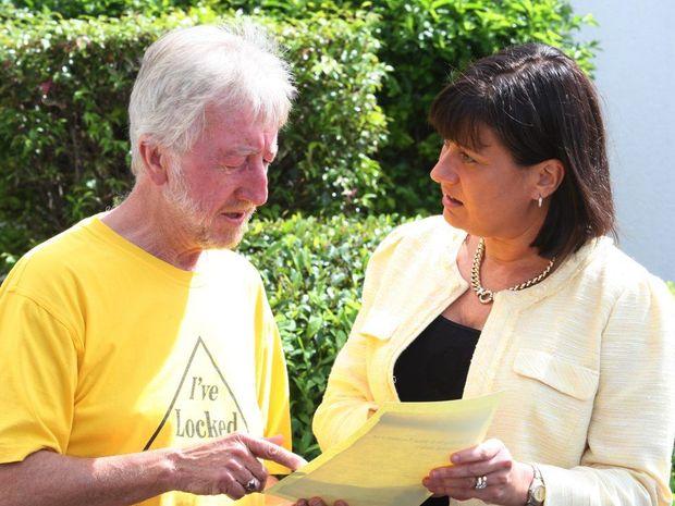 Lock the Gate's Michael McNamara and Richmond MP Justine Elliott pictured in March, 2013.