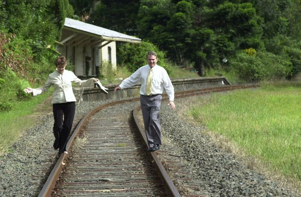Ballina MP Don Page and then Ballina Labor candidate Sue Dakin united in their desire to return the train in 2004.