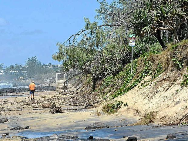 SHIFTING SHORES: Erosion between Maroochydore and Alexandra Headland caused by recent severe weather events.