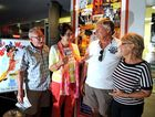 Geoff Ross, Tess Ross, Lindsay Hain and Susan Hain at Cinemax cinema, Kingscliff for seniors week.