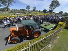 "The coffin of Scott ""Horse"" Mawhinney is towed by a tractor from St Matthews Church in South Grafton after his funeral attended by over 500 people. Photo Adam Hourigan / The Daily Examiner"