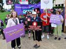 Nurses rally