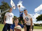 """The 'How Ridiculous"""" team (front from left) Scott Gaunson, Kyle Nebel, Brett Stanford. (taking shot in background) Derek Herron. Photo Nev Madsen / The Chronicle"""