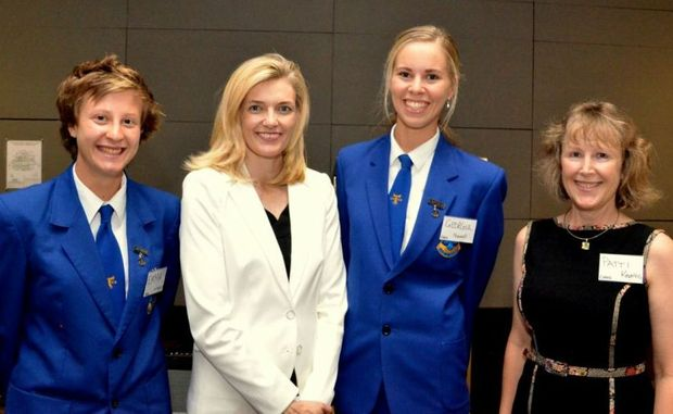 Catherine Brenner (centre) was a special guest of Women on Boards Mid North Coast.