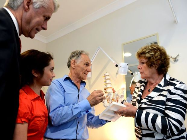 Geoff Provest, Karina White, Dr Zekri Palushi and NSW minister for health Jillian Skinner at the the opening of Health One centre, Pottsville.