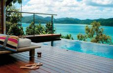 Windward Pavilion plunge pool at Qualia provides spacious accommodation with a separate living room and ocean-facing bedroom.