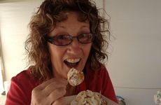 Ineke Van De Ligt makes dutch poffertjes at the Heritage Toowoomba Royal Show.