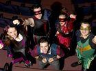 Members of Skeeter's School for Successful Superheroes Jasmine Lane, Trevor Vanstone, Katie-Jayne Olm, Miles Waddell and Brodie Greenhalgh.