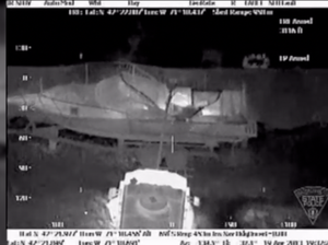 Thermal camera shows Boston bombing suspect in boat
