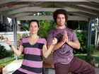 Cancer Support Coordinator, Lisa Pyper and Volunter C-vivor Group Leader, Ben O'Sullivan at yoga classes at Cancer Council Qld. Photo Allan Reinikka / The Morning Bulletin