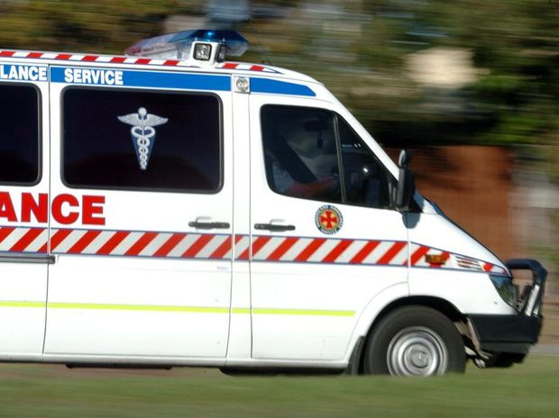 A girl was taken to Rockhampton Hospital with lower leg injuries after being run over in her driveway