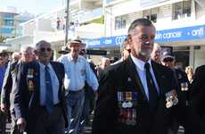 The ANZAC Day march from Maroochy RSL sub-branch to the Cenotaph at Cotton Tree. Photo Kristy Muir / Sunshine Coast Daily